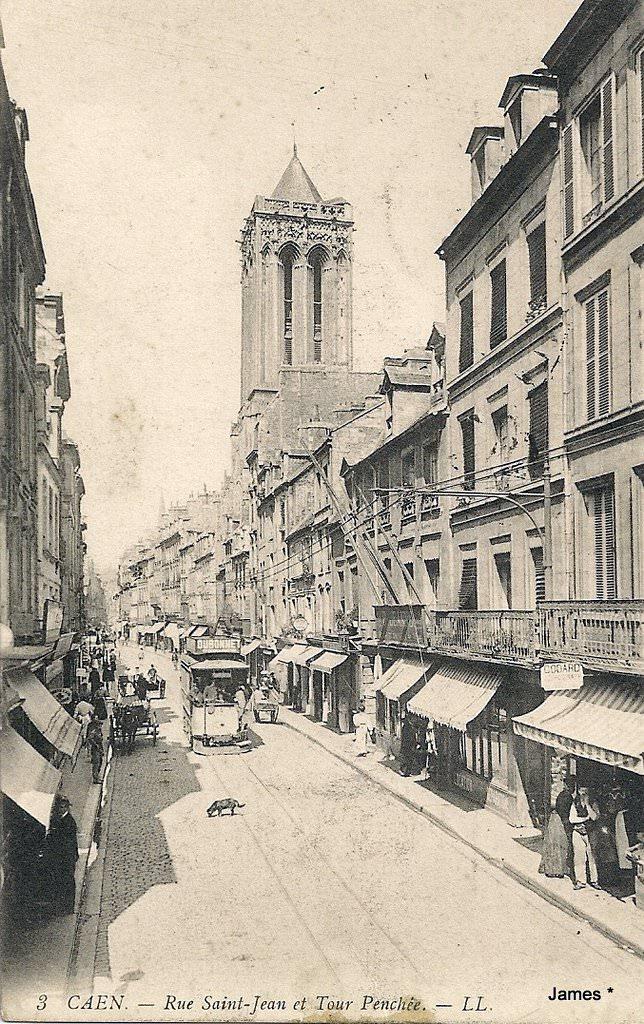 Caen rue saint jean caen cartes postales anciennes sur cparama - Rue saint laurent caen ...