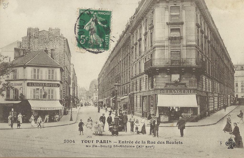paris rue des boulets paris xie arr cartes postales anciennes sur cparama. Black Bedroom Furniture Sets. Home Design Ideas