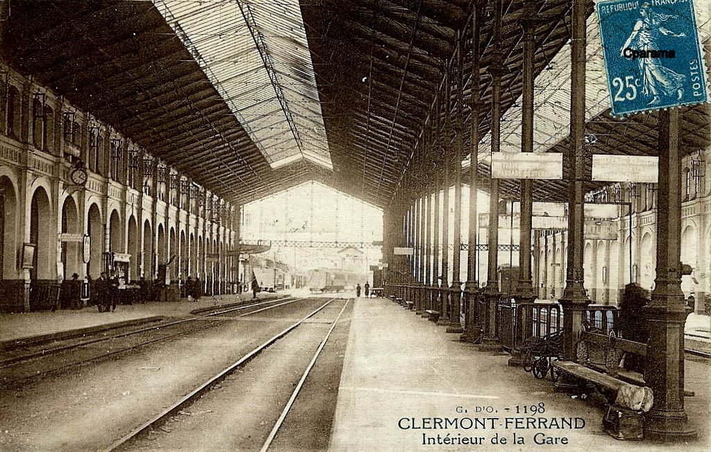 clermont ferrand gares tramways et trains clermont ferrand cartes postales anciennes sur. Black Bedroom Furniture Sets. Home Design Ideas