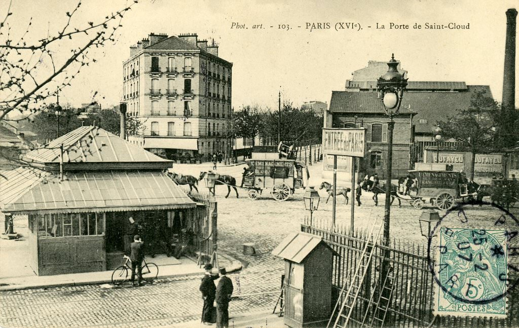Paris porte de saint cloud paris xvie arr cartes for Porte carte postale sur pied