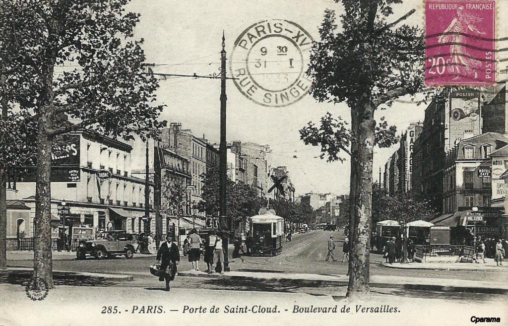 Paris porte de saint cloud paris xvie arr cartes postales anciennes sur cparama - Porte de saint cloud restaurant ...