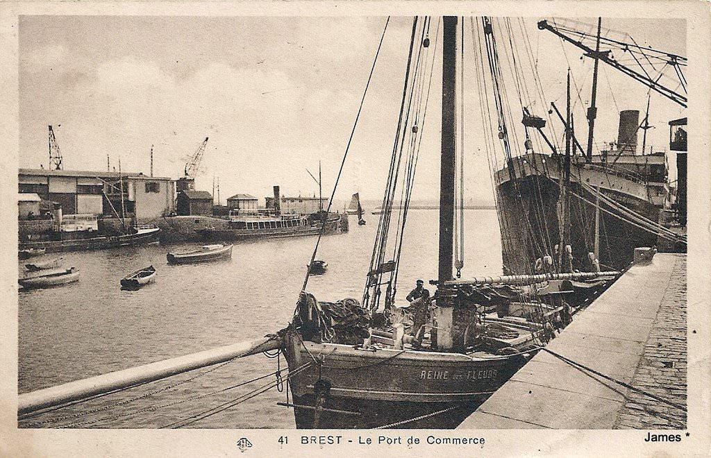 Brest ports bateaux ponts arsenal brest page 4 cartes postales anciennes sur cparama - Restaurant port de commerce brest ...
