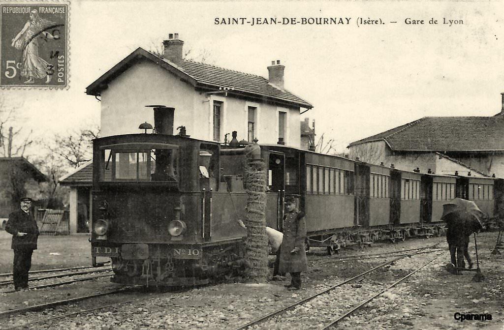 saint jean de bournay 38 is re cartes postales anciennes sur cparama. Black Bedroom Furniture Sets. Home Design Ideas