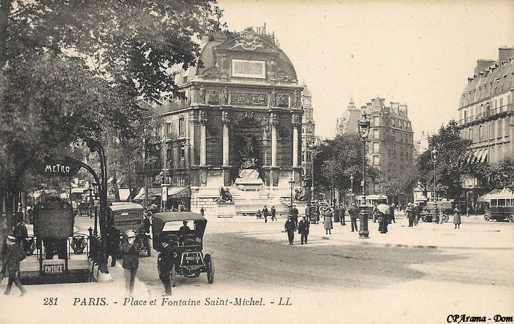 Paris saint michel paris ve arr page 2 cartes - Metro saint michel paris ...