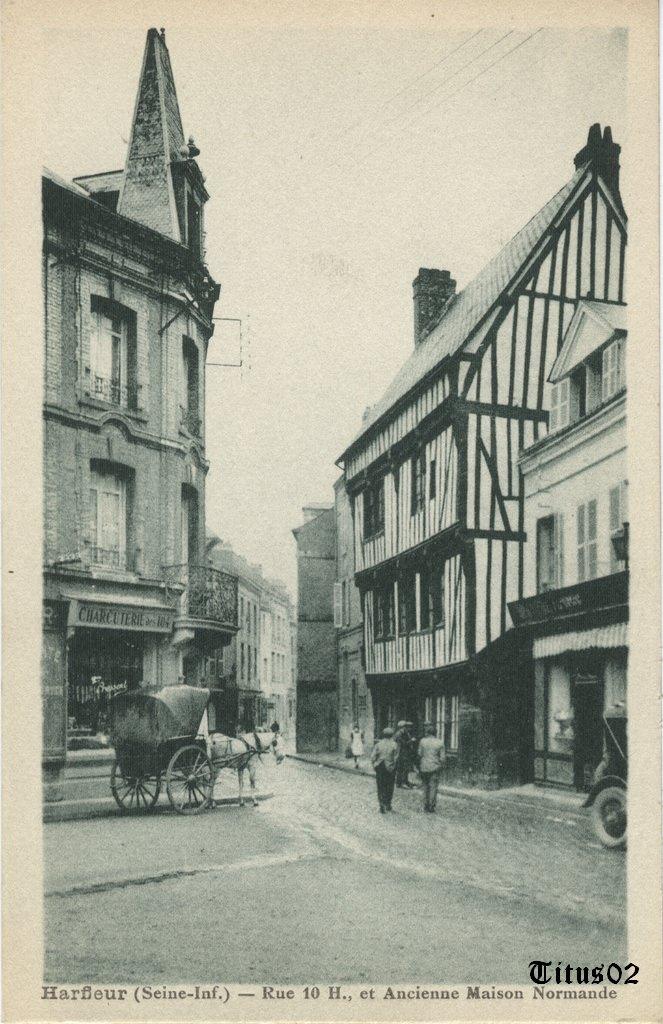 Harfleur 76 seine maritime cartes postales anciennes for Photos maisons anciennes