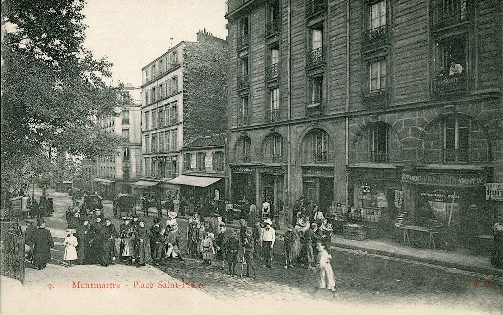 Paris place saint pierre paris xviiie arr cartes postales anciennes su - Place saint pierre paris ...
