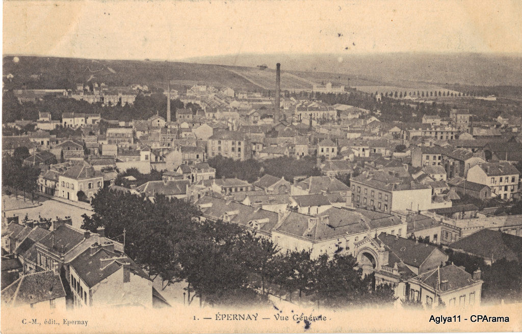 Epernay 51 marne cartes postales anciennes sur cparama for Plan d epernay