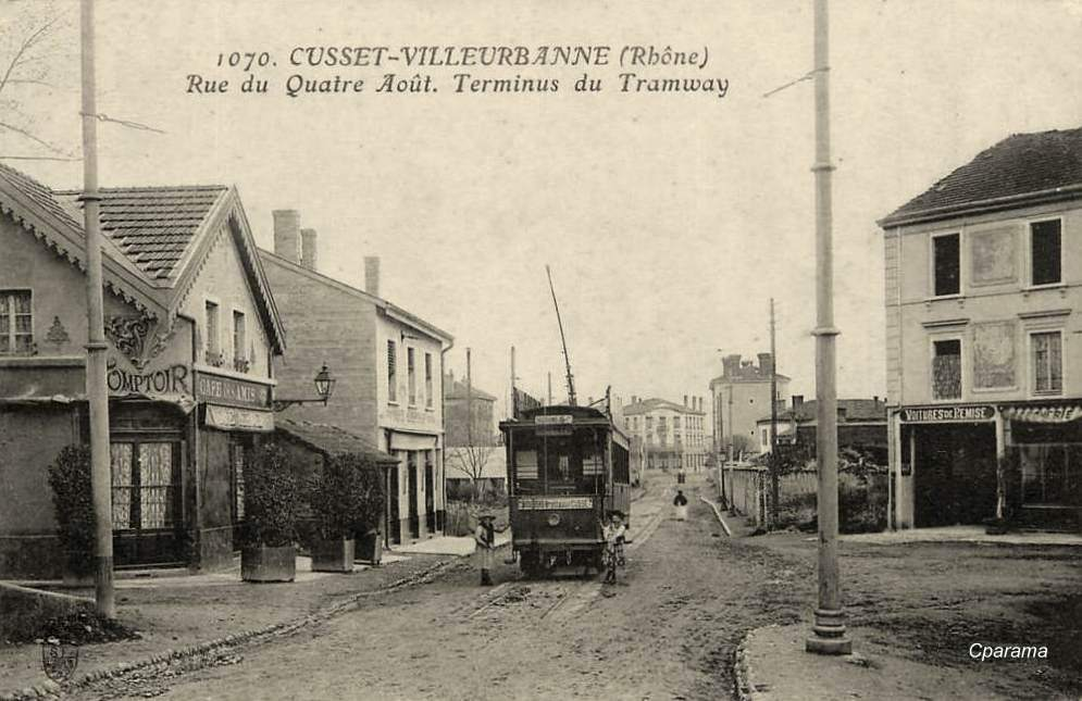 Villeurbanne 69 rh ne cartes postales anciennes sur for Garage du tram villeurbanne