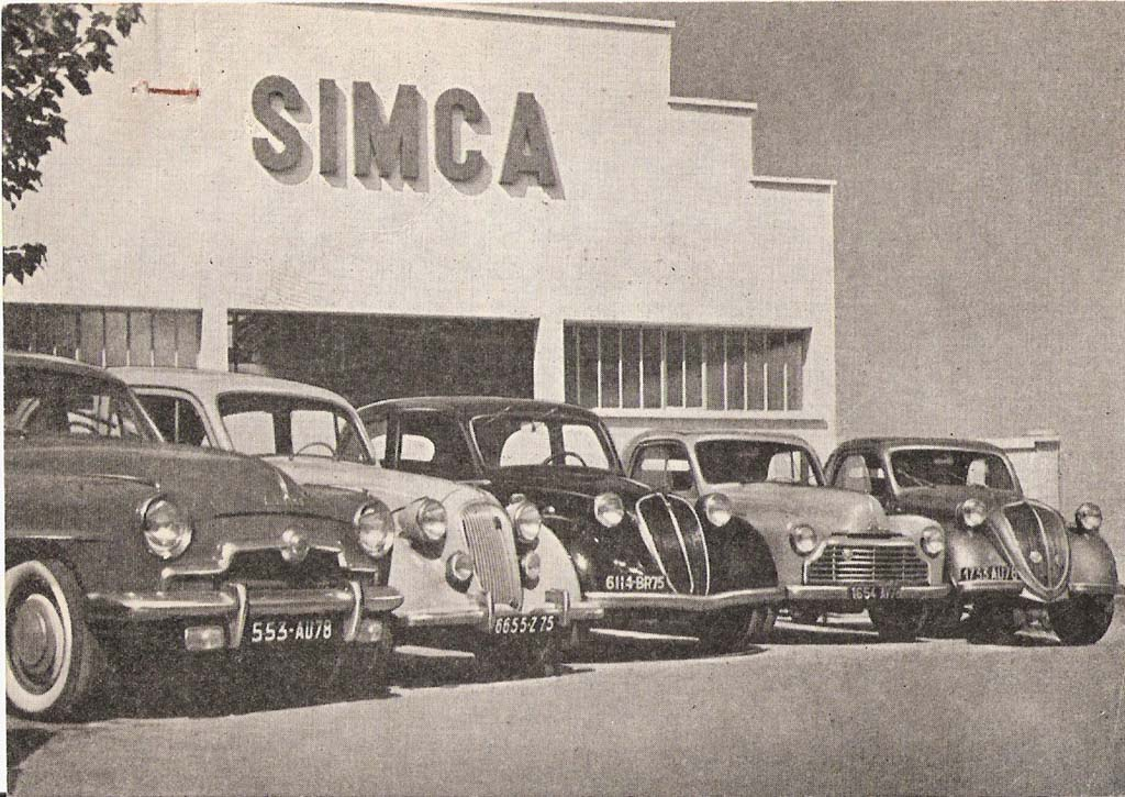simca automobiles et voitures cartes postales anciennes sur cparama. Black Bedroom Furniture Sets. Home Design Ideas