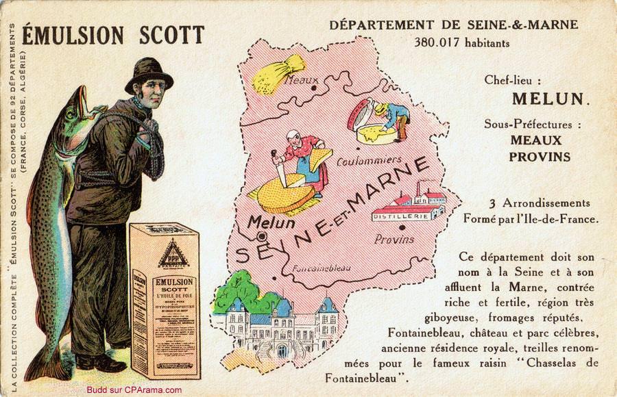 Carte du d partement 77 seine et marne cartes for Departement melun