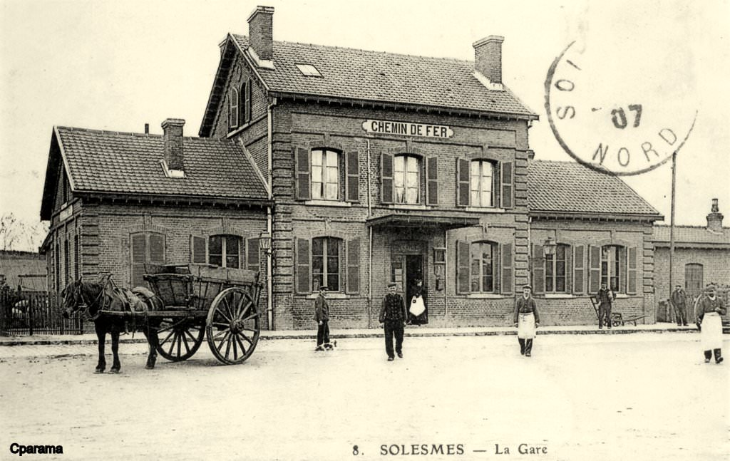 Solesmes 59 nord cartes postales anciennes sur cparama for Photographe clamart gare