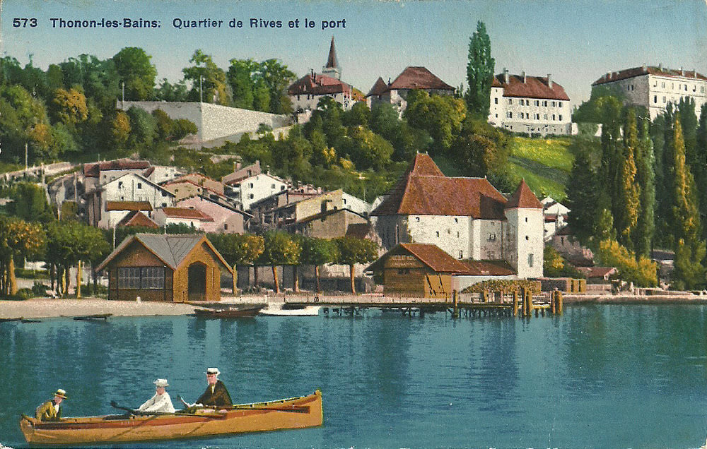 thonon les bains 74 haute savoie cartes postales anciennes sur cparama. Black Bedroom Furniture Sets. Home Design Ideas