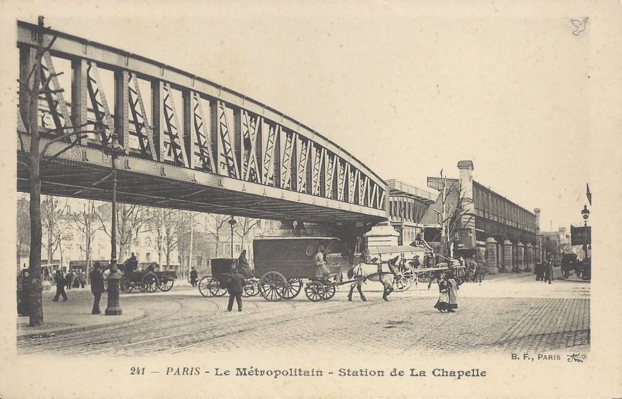 Paris boulevard de la chapelle paris xviiie arr cartes postales anciennes sur cparama - Le five paris porte de la chapelle ...