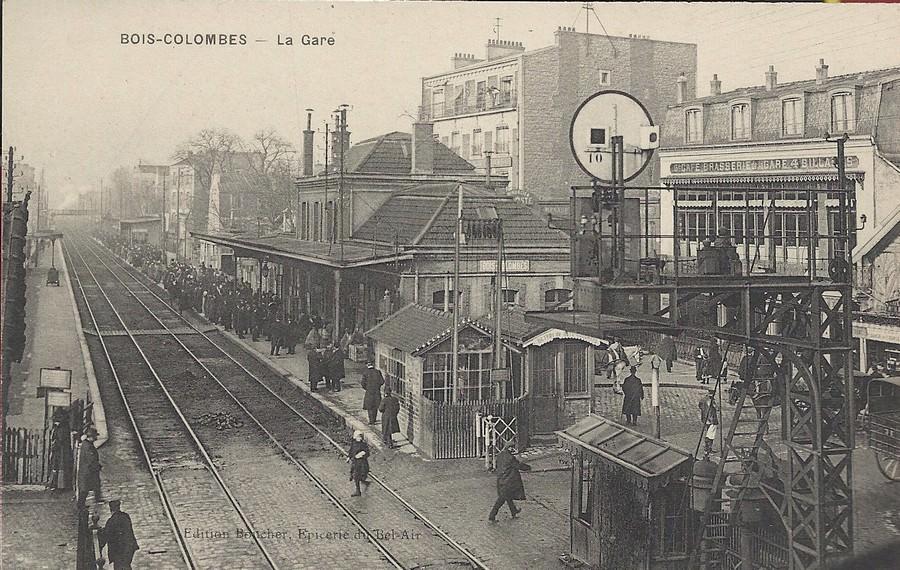 de la commune de bois colombes hauts de seine 92 bois colombes la gare  ~ Carte Bois Colombes