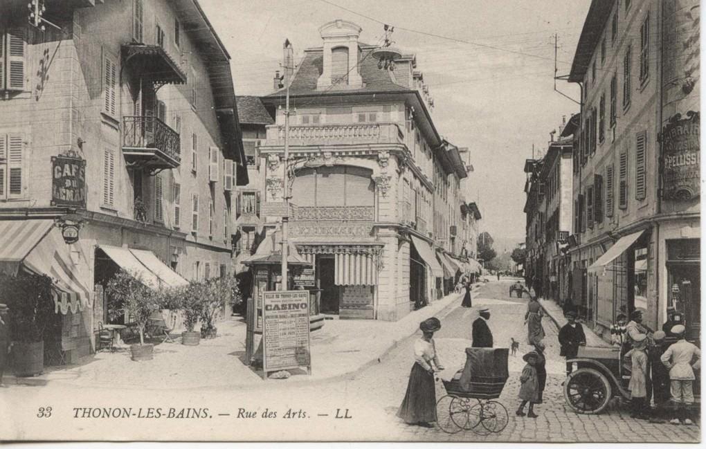 Thonon les bains 74 haute savoie cartes postales for Rue des bains