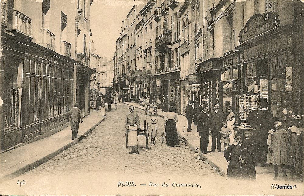 blois rue du commerce blois cartes postales anciennes sur cparama. Black Bedroom Furniture Sets. Home Design Ideas