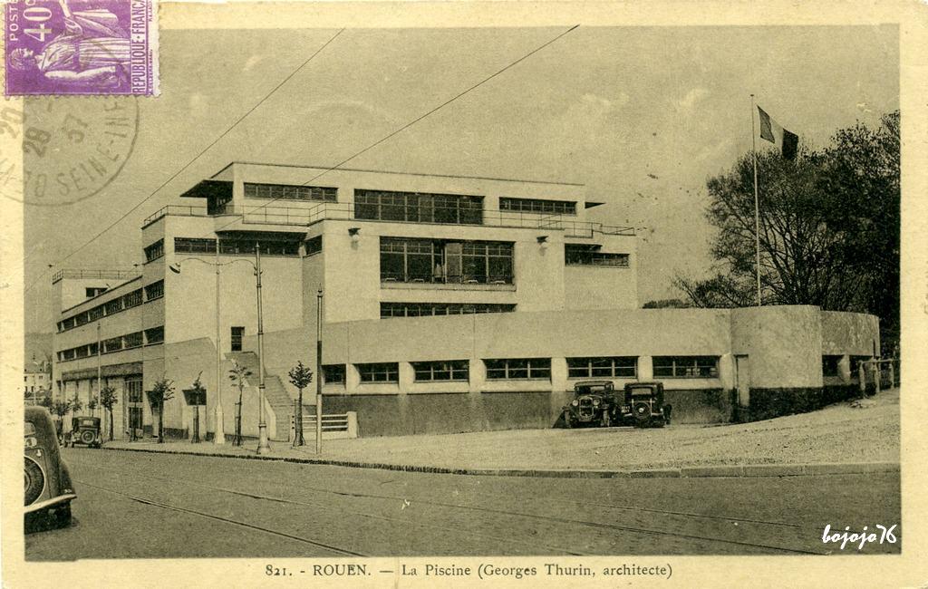 Rouen b timents divers rouen cartes postales for Piscine a rouen