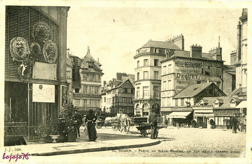 rouen place du vieux march 233 rouen cartes postales anciennes sur cparama