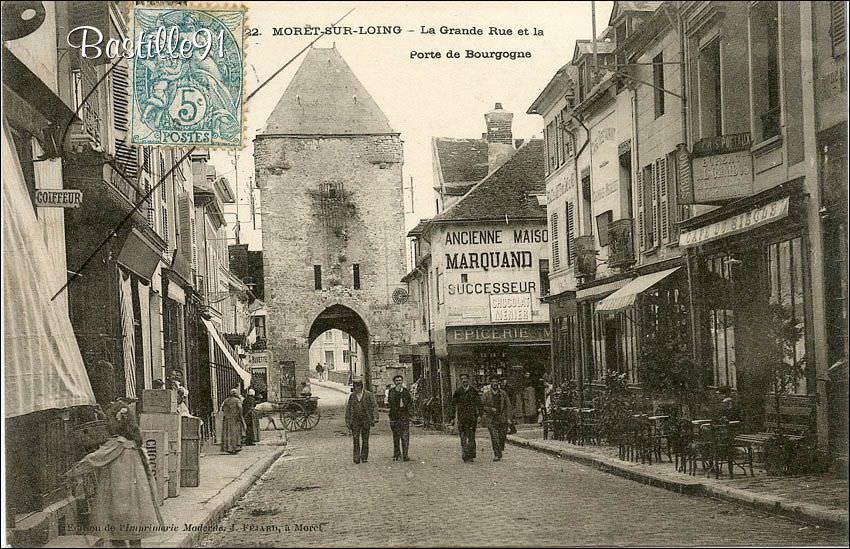 Moret sur loing 77 seine et marne cartes postales - La porte de bourgogne moret sur loing ...