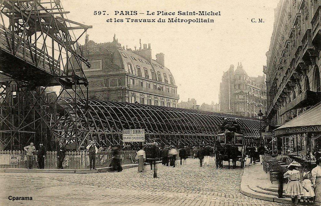 La construction du Métro de Paris : 75 - Paris | Cartes Postales ...