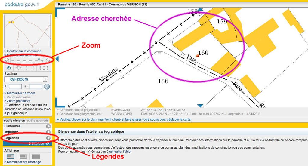 Comment localiser une adresse avec le cadastre discussions g n rales cart - Connaitre proprietaire parcelle ...