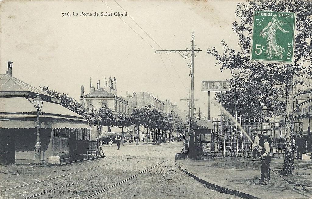 Paris porte de saint cloud paris xvie arr cartes for La poste porte de saint cloud