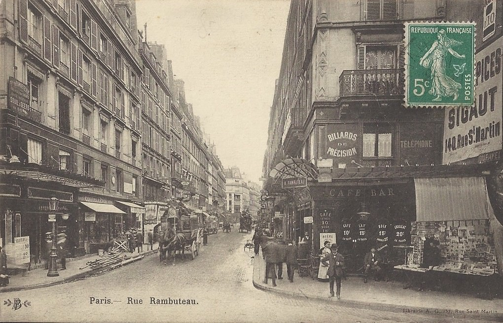 Paris rue rambuteau paris ive arr cartes postales anciennes sur cparama - Rue rambuteau paris ...