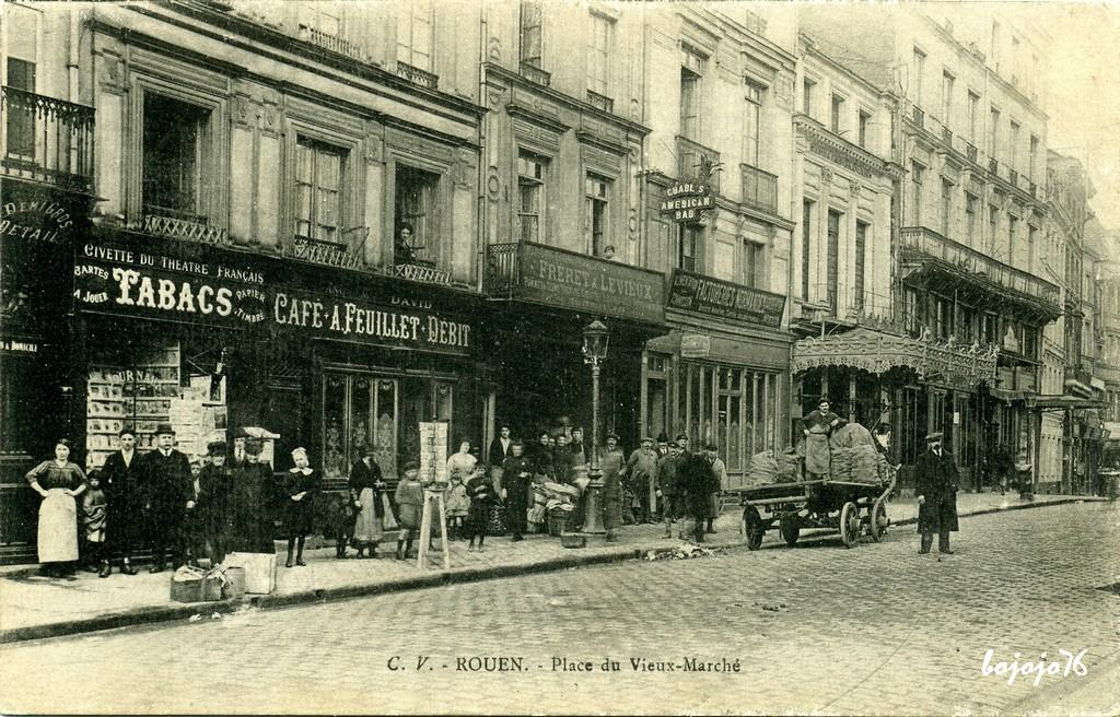 rouen place du vieux march rouen cartes postales anciennes sur cparama. Black Bedroom Furniture Sets. Home Design Ideas
