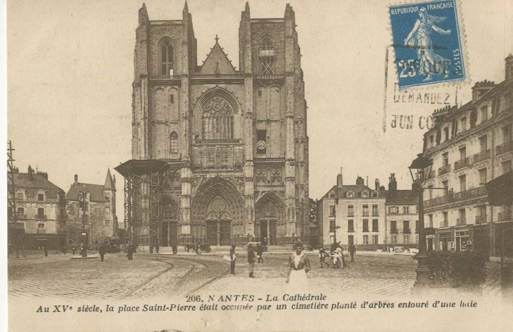 nantes cath drale et glises nantes cartes postales anciennes sur cparama. Black Bedroom Furniture Sets. Home Design Ideas