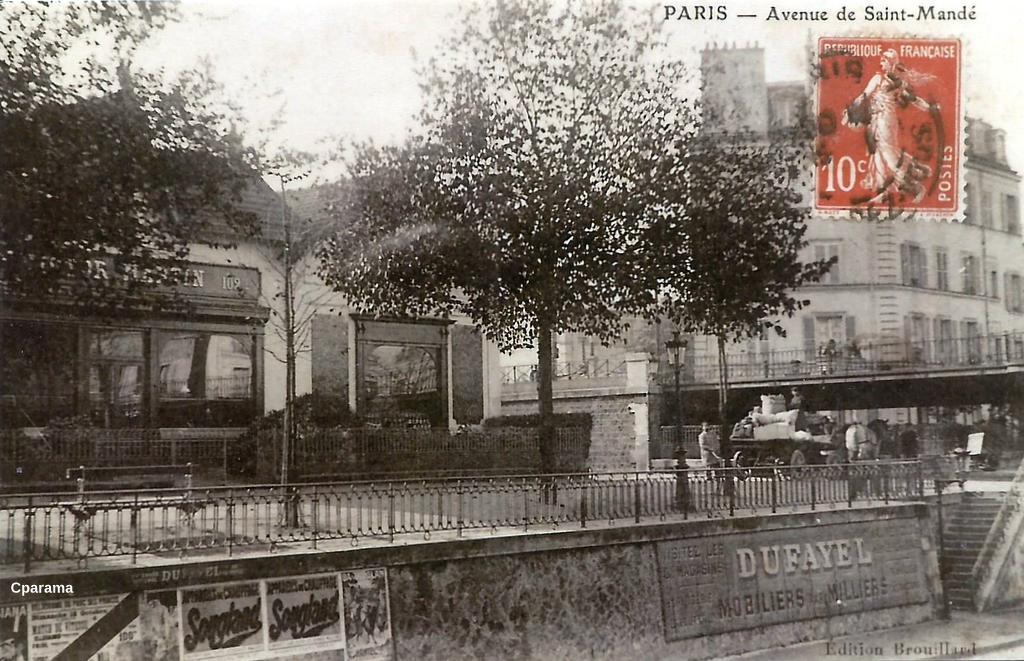 paris avenue de saint mand paris xiie arr cartes postales anciennes sur cparama. Black Bedroom Furniture Sets. Home Design Ideas