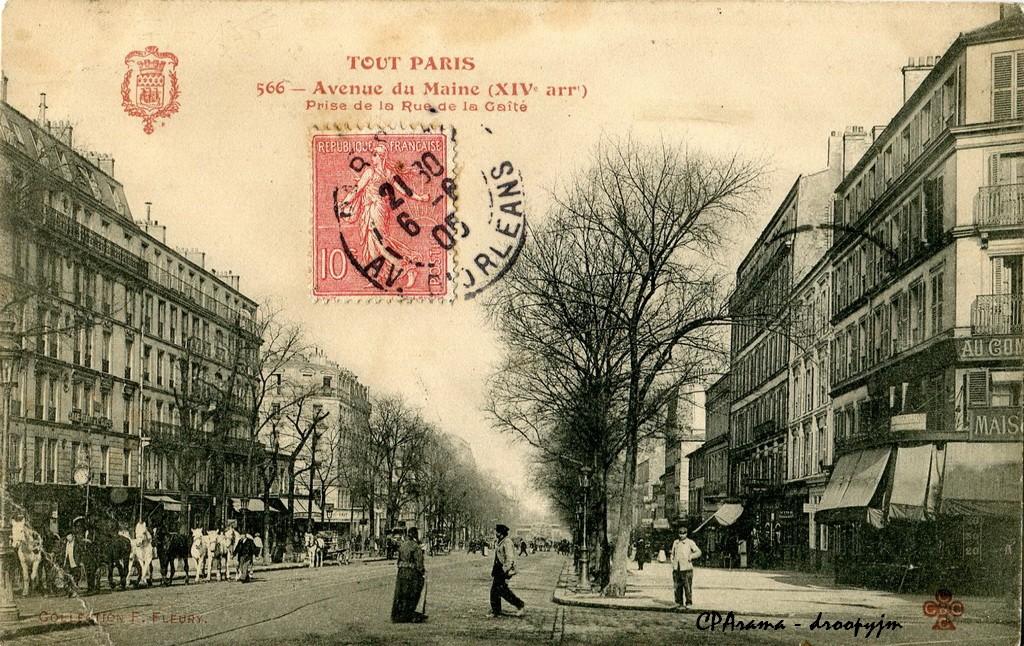 Paris avenue du maine paris xive arr cartes for Garage avenue du maine