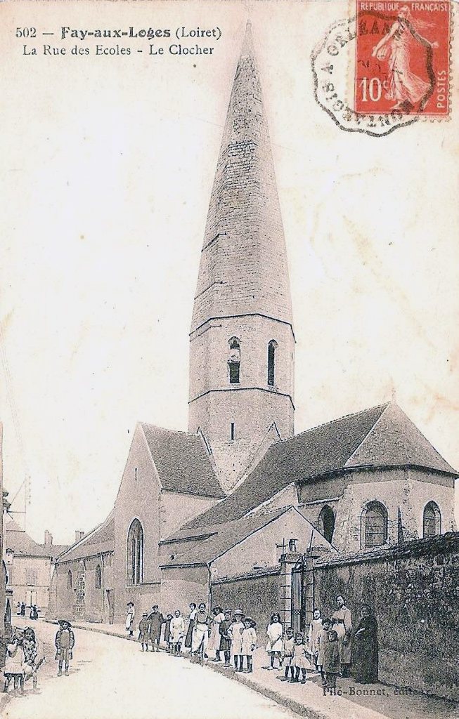 Villes et villages en cartes postales anciennes .. - Page 34 1317935488-fay-aux-loges-rue-des-eco