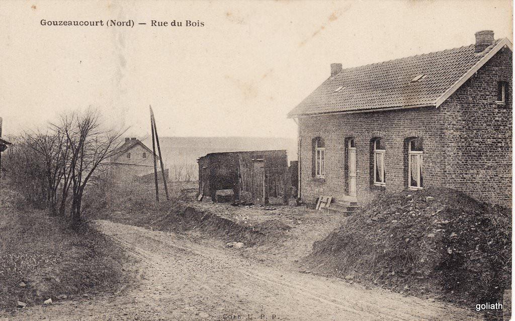 Gouzeaucourt rue du bois gouzeaucourt cartes for Rue du bois flotte