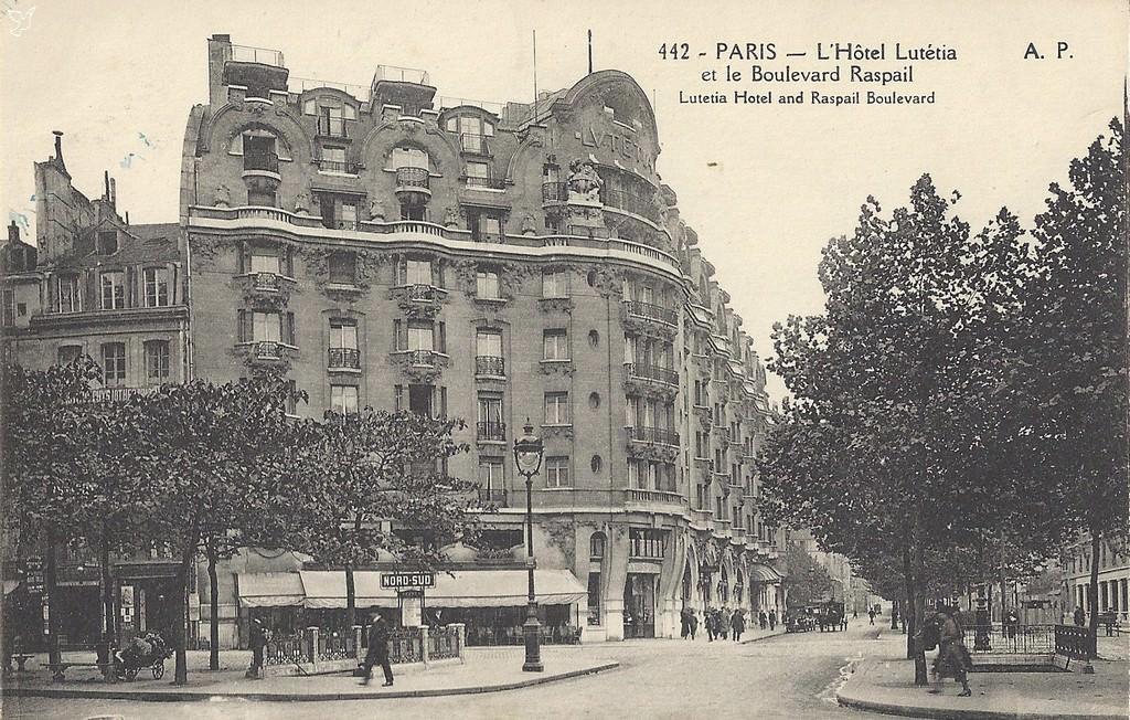 Paris h tel lutetia paris vie arr cartes postales anciennes sur cparama - Restaurant le paris lutetia ...