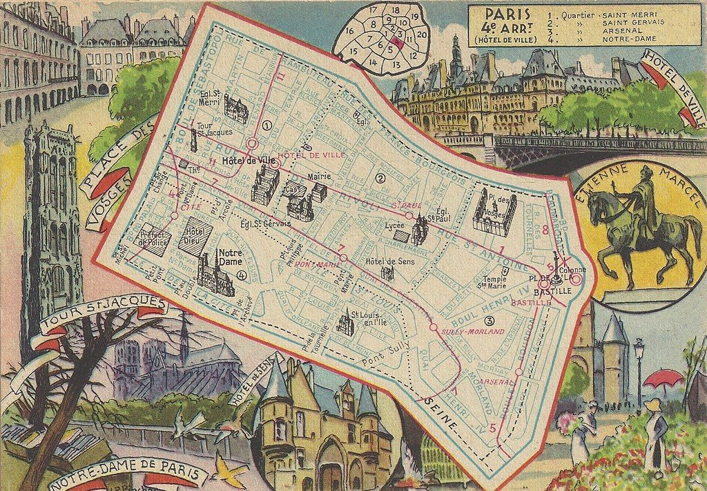 Plan De 4 232 Me Arrondissement Paris Ive Arr Cartes