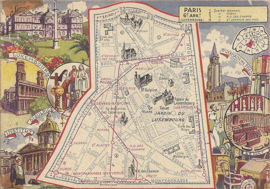 Plan du 6 me arrondissement paris vie arr cartes for Agence immobiliere 6eme arrondissement paris