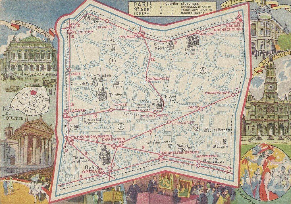 Plan Du 9 U00e8me Arrondissement   Paris Ixe Arr