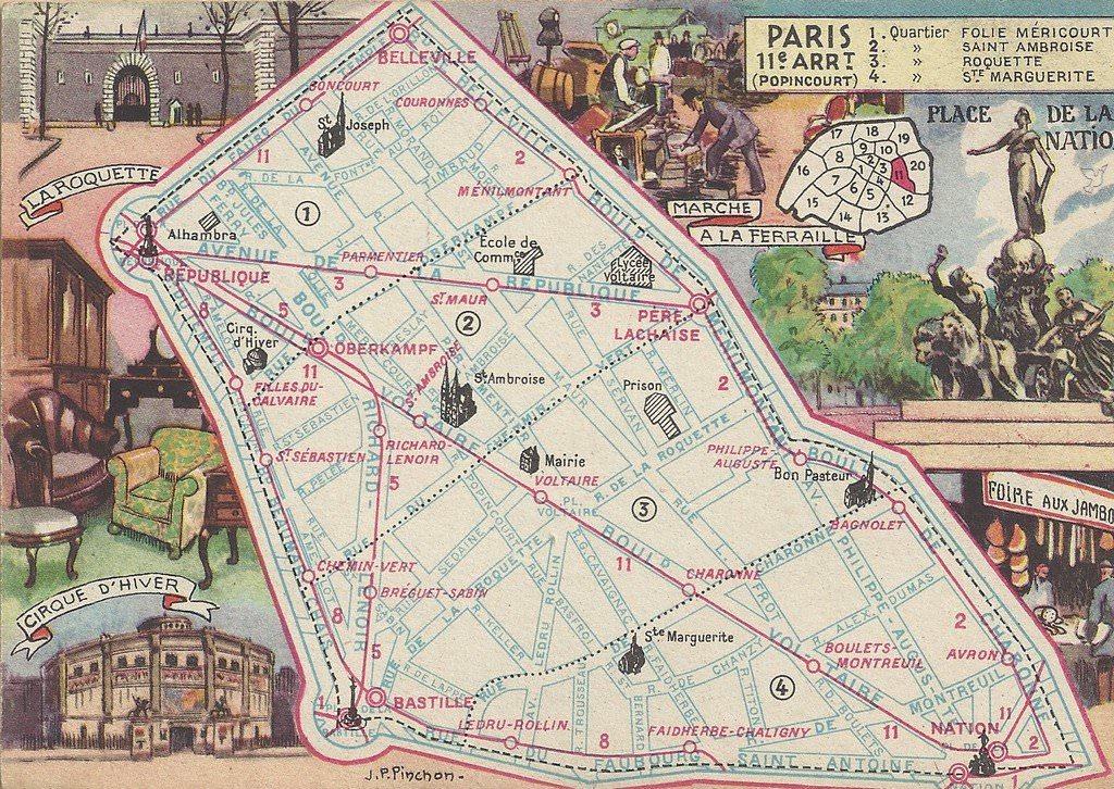 Plan Du 11 232 Me Arrondissement Paris Xie Arr Cartes