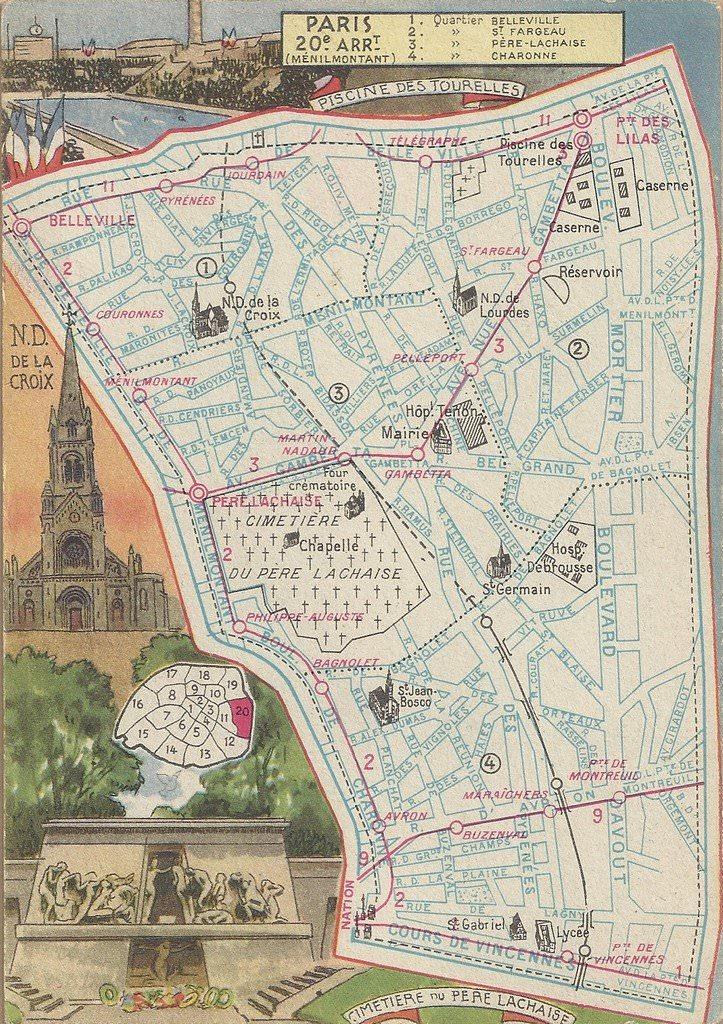 News de paris xxe arr page 8 cartes postales - 10 avenue de la porte de menilmontant ...