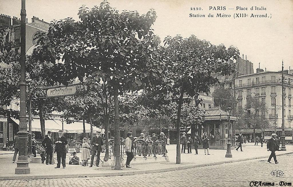 M tropolitain m tro paris 75 paris page 28 cartes postales anciennes sur cparama - Station total porte d italie ...