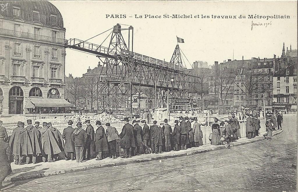 Paris saint michel paris ve arr cartes postales anciennes sur cparama - Saint michel paris metro ...