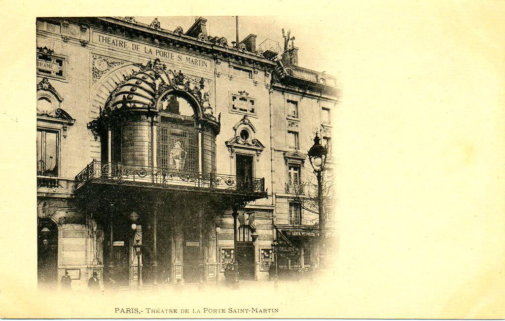 Paris th tre de la porte saint martin paris iiie arr cartes postales anciennes sur cparama - Theatre porte saint martin ...