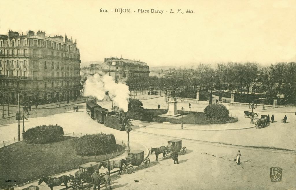 Carte postale de Dijon, environ 1900